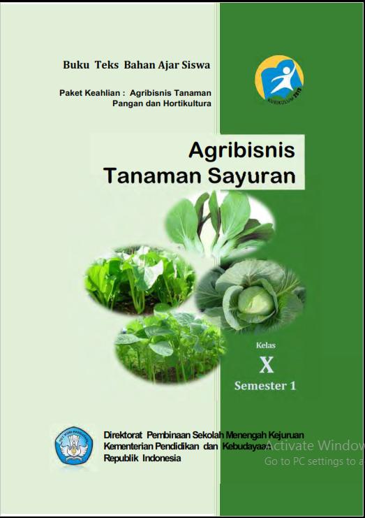 Belajar Bercocok Tanam - Buku Belajar Agribisnis Tanaman Sayur