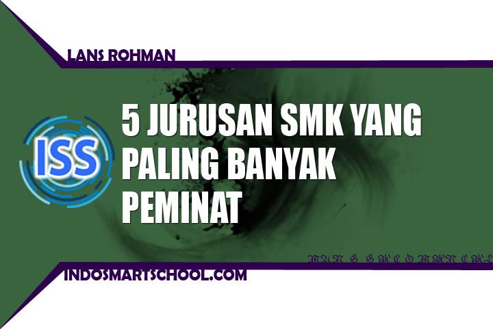 5 JURUSAN SMK YANG PALING BANYAK PEMINAT LANS ROHMAN INDO SMART SCHOOL