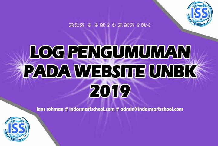 log pengumuman pada website unbk 2019 lans rohman indo smart scholl