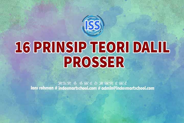 16 Prinsip Teori Dalil Prosser Pendidikan Vokasi Lans Rohman Indo Smart School