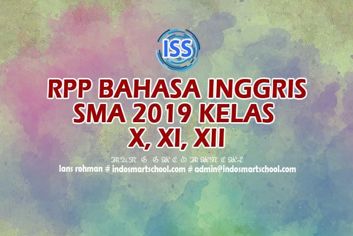 Rpp Bahasa Inggris SMA Kurikulum 2013 Revisi 2017 LANS ROHMAN INDO SMART SCHOOL