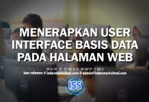 MENERAPKAN USER INTERFACE BASIS DATA PADA HALAMAN WEB