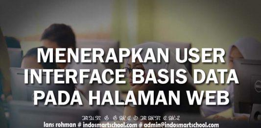 MENERAPKAN USER INTERFACE BASIS DATA PADA HALAMAN WEB