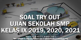 SOAL TRY OUT UJIAN SEKOLAH SMP KELAS IX 2019, 2020, 2021 BAHASA INDONESIA