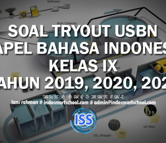 SOAL TRYOUT USBN MAPEL BAHASA INDONESIA KELAS IX TAHUN 2019, 2020, 2021