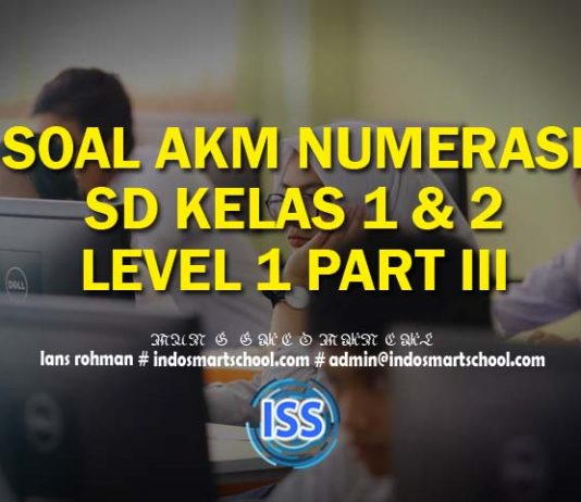 Contoh Soal AKM Numerasi Level 1 ( Kelas 1 & 2) SD Beserta Jawaban Part III