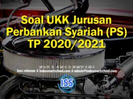 Soal UKK Jurusan Perbankan Syariah (PS) TP 2020/2021