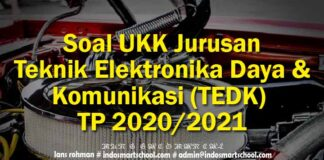 Soal UKK Jurusan Teknik Elektronika Daya dan Komunikasi (TEDK) TP 2020/2021