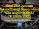 Soal UKK Jurusan Teknik Energi Surya, Hidro dan Angin (TESHA) TP 2020/2021